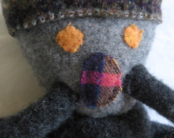 Edward - recycled sweater doll