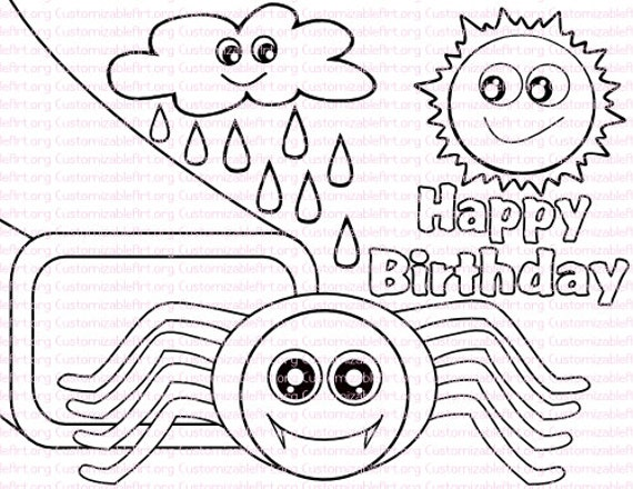 eency weency spider coloring pages - photo#5