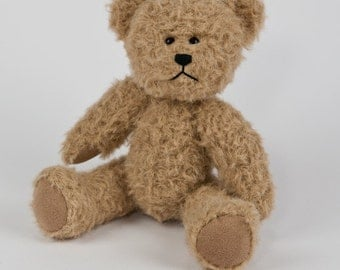 Travel Teds - Handmade, Hand Stitched Collectible Artists Mohair Teddy Bear - Rufus