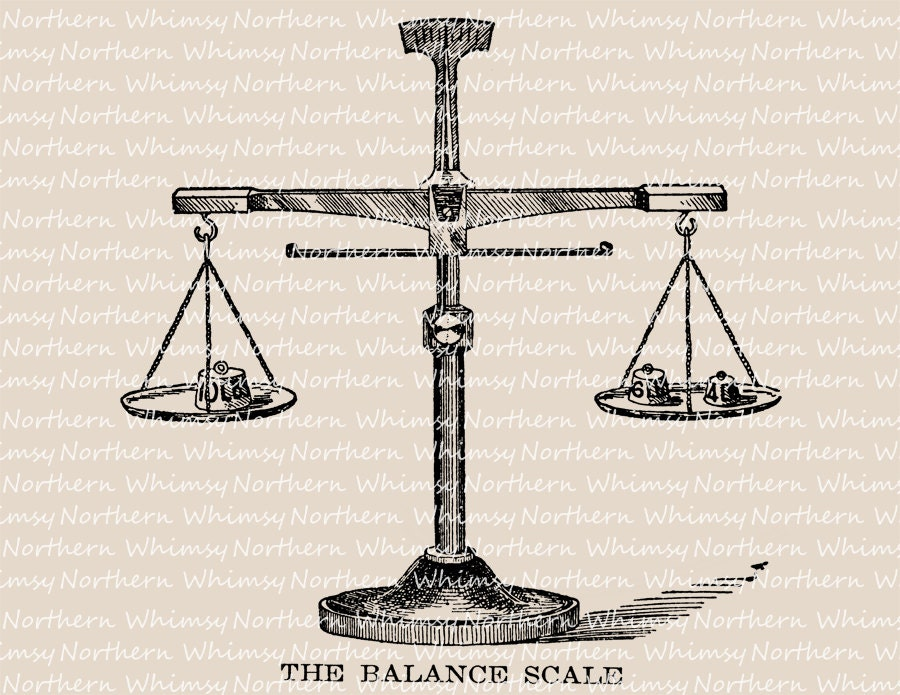 Antique Scale Illustration Vintage Balance Scale Clip Art Balance Scale Sketch