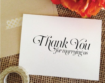 Thank you for marrying us gift for wedding officiant Wedding
