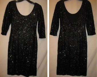 Short Black Sequin Dress #40