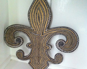 Black and Gold Fleur-de-Lis Wall Art