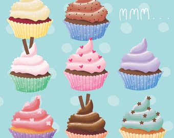 Cupcake Greeting Card! Yum cupcake time!