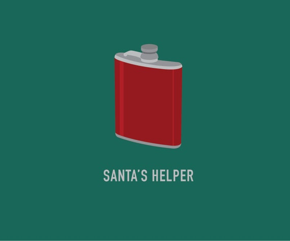 Flask | Christmas Card | Funny Christmas Card