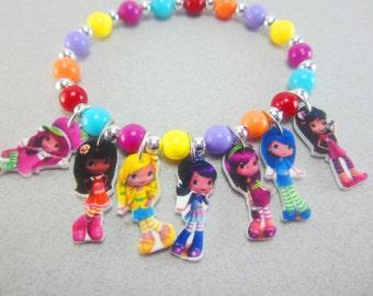 Trolls charm bracelet trolls movie jewelry trolls party for Strawberry shortcake necklace jewelry