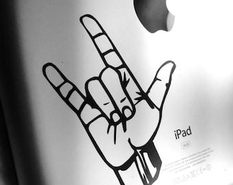 ASL  - I love You, Sign Language - ASL Vinyl Decal - Sticker