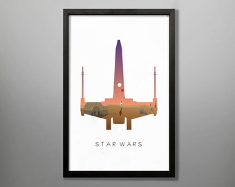 Star Wars X Wing Poster