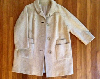 Cream 50's Lady Coat by A Present Vogue