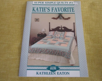 Super simple quilts #3, Katie's Favorite, book by Kathleen Eaton, pattern