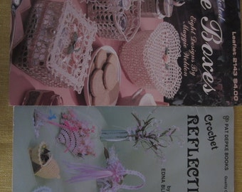 Crocheted Lace Boxes 8 designs, Crochet Reflections 8 designs, boxes and baskets,Easter designs