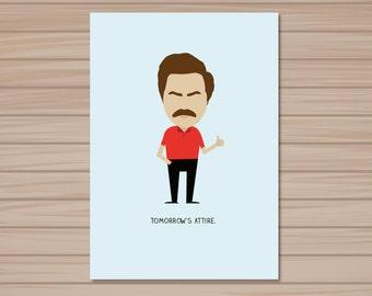 Ron Swanson Valentine Card