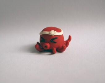 Takoyaki-kun polymer clay octopus