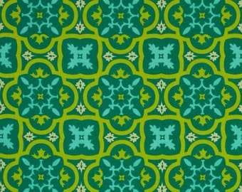 Andalucia - Moorish Tile -Patty Young - Turquoise - Michael Miller - 1 yard cut