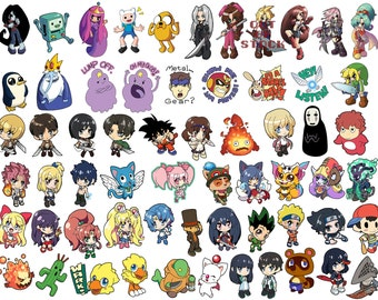 Custom 4 Magnet Collection - Mix and Match - Choose any 4! Anime, Video Game Characters, and more!