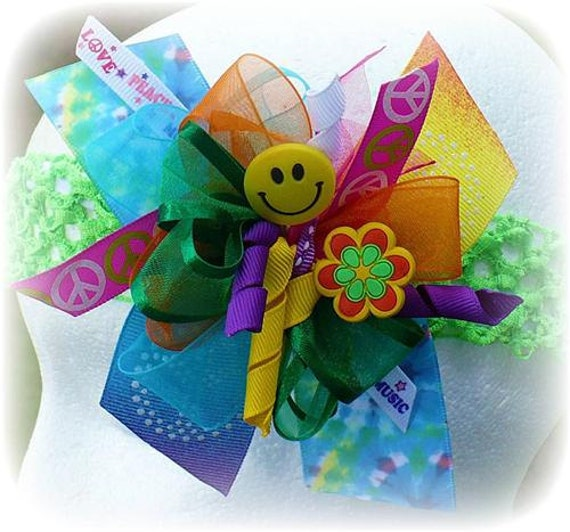 Items similar to purple pink green yellow blue peace sign for Tye dye flowers