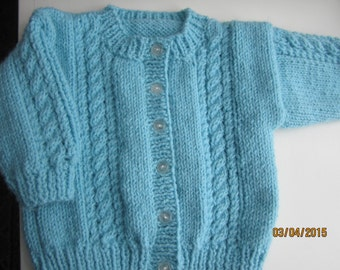Babies/childs Handknit  Cardigan Sweater Size 12 mos