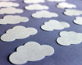 100 Die Cut Clouds | White Clouds Confetti | Punched Clouds | Clouds Scrapbook Embellishment | Card Making | Cloud Party | Baby Shower | DIY