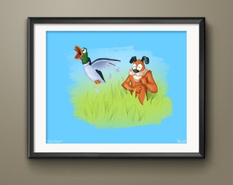 Nintendo Duck Hunt Video Game Art Print