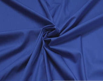 Fabric cotton Poplin cobalt blue cotton fabric