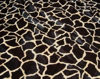 fabric polyester plush giraffe fake fur velboa