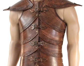 Hard leather ARMOR for man, Wood Elf  worrior, six colors