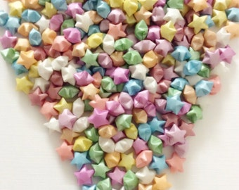 100 Origami Stars Pearly Pastel Multi-Colored