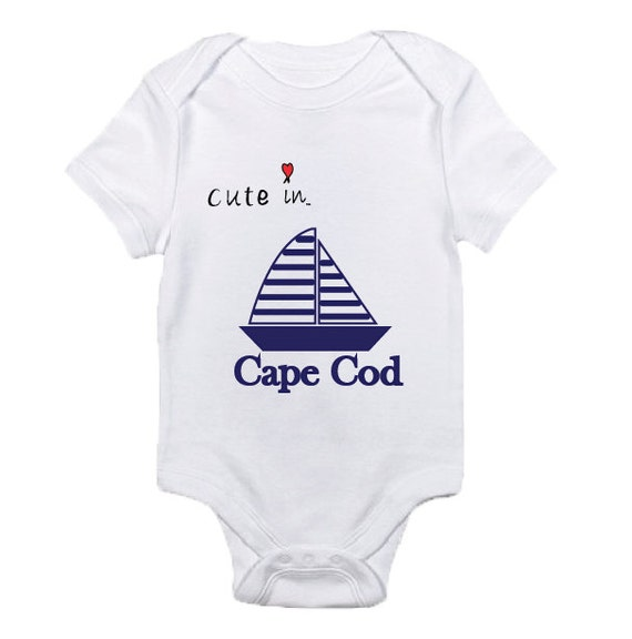Cape Cod Apparel: Cape Cod Onesie / Cape Cod T-Shirt Boating Baby By Cuteinco