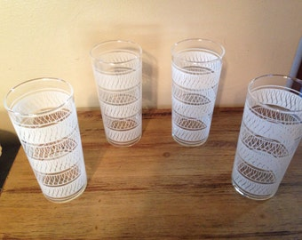 Vintage Highball/Tumblers, Set of Four!  Excellent Condition!