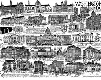 Washington DC Cityscape Print