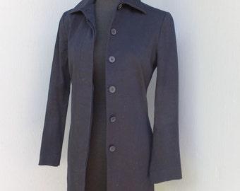 1970s/80s ESPRIT Coat / Small / Navy Blue Coat