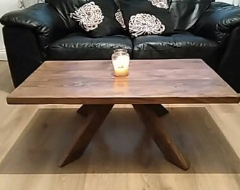 Rustic/reclaimed/tripod/industrial/modern coffee table
