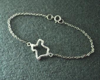 Texas Jewelry, Custom Texas Bracelet, Personalized Map Bracelet, Map jewelry,custom map jewelry,Texas pendant , gift for girlfriend