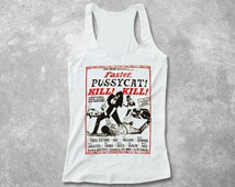 Faster Pussycat Kill! Kill! Women Fitted Tank Top racerback Russ Meyer vintage movie poster design screen printed workout shirt burnout