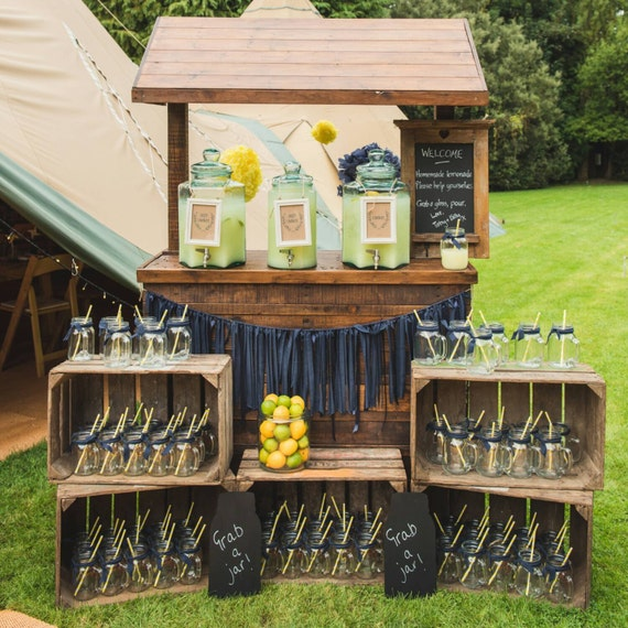 Items similar to rustic lemonade stand hire for Rustic lemonade stand