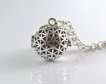 Flower of life harmony ball , 3d flower of life pendant , Angel caller , Mexican bola , Harmony ball , pregnancy gift , Kabala jewelry