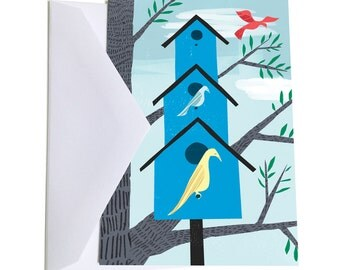Birdhouse Notecard Set