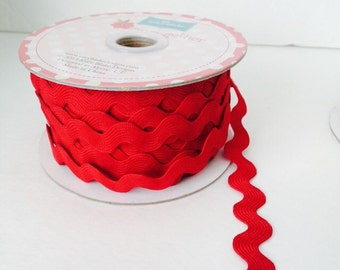 3/4 inch Ric Rac- Red (5 Yard Bundle) Riley Blake Designs