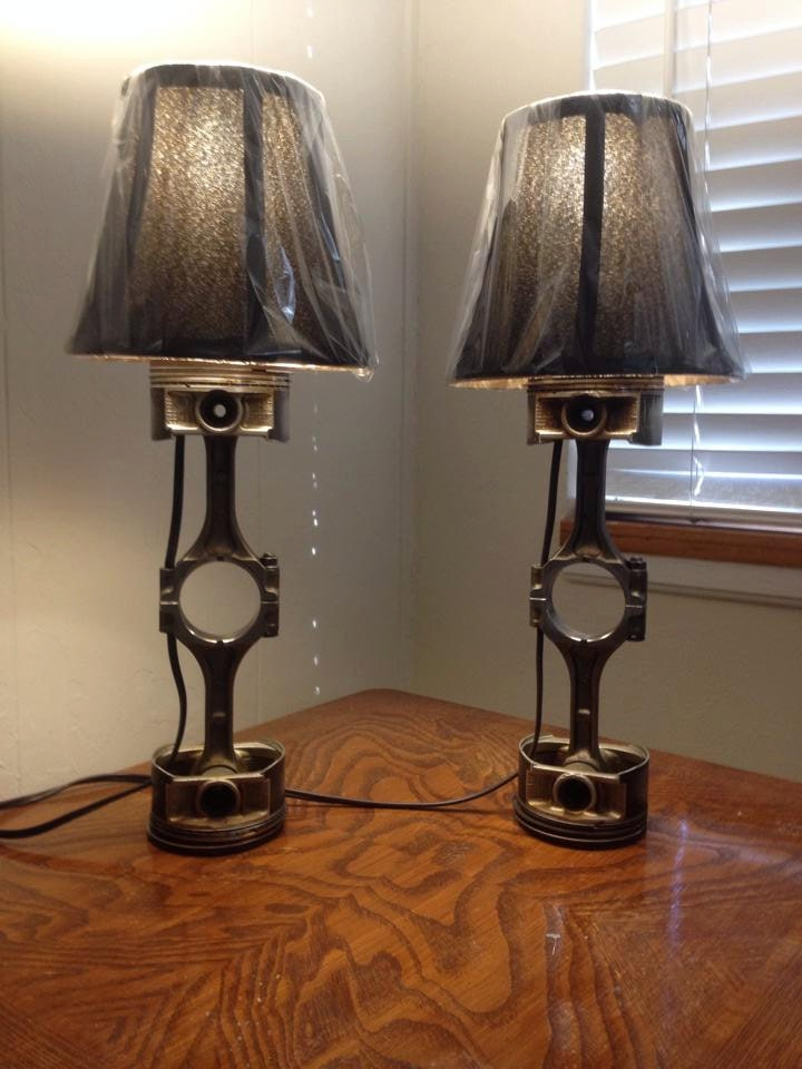 Piston lamps Custom furniture made car parts