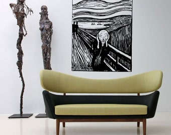 The Scream by Edvard Munch Reproduction sticker decal Wall Decal Art Vinyl Sticker pt021