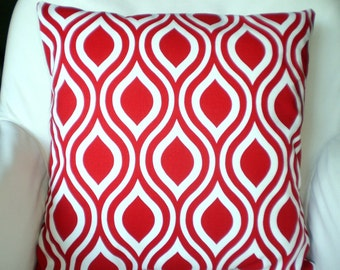 Red Pillow Covers, Decorative Throw Pillows, Cushion Covers, Throw Pillows for Couch, Decorative Pillow, Christmas Red One or More All Sizes