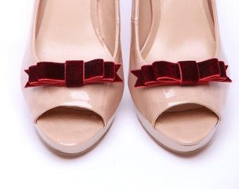 Velvet Revolution Dark Red shoe clips