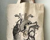 Heart Anatomy Canvas Tote bag Printed Cotton Canvas Bag.