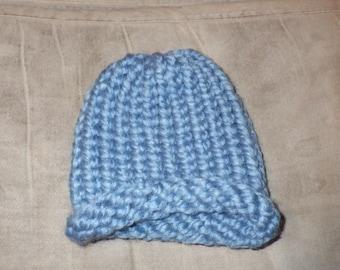 Newborn Baby Light Blue Hat