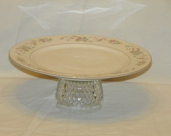 Beautiful Serving Platter Made of Vintage Glassware