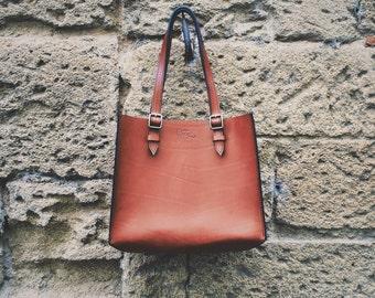 Rigid handbag leather Design by George • Brown •