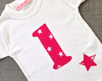 First Birthday number one t shirt, 1st birthday tshirt, birthday age t shirt by Two little peas and me