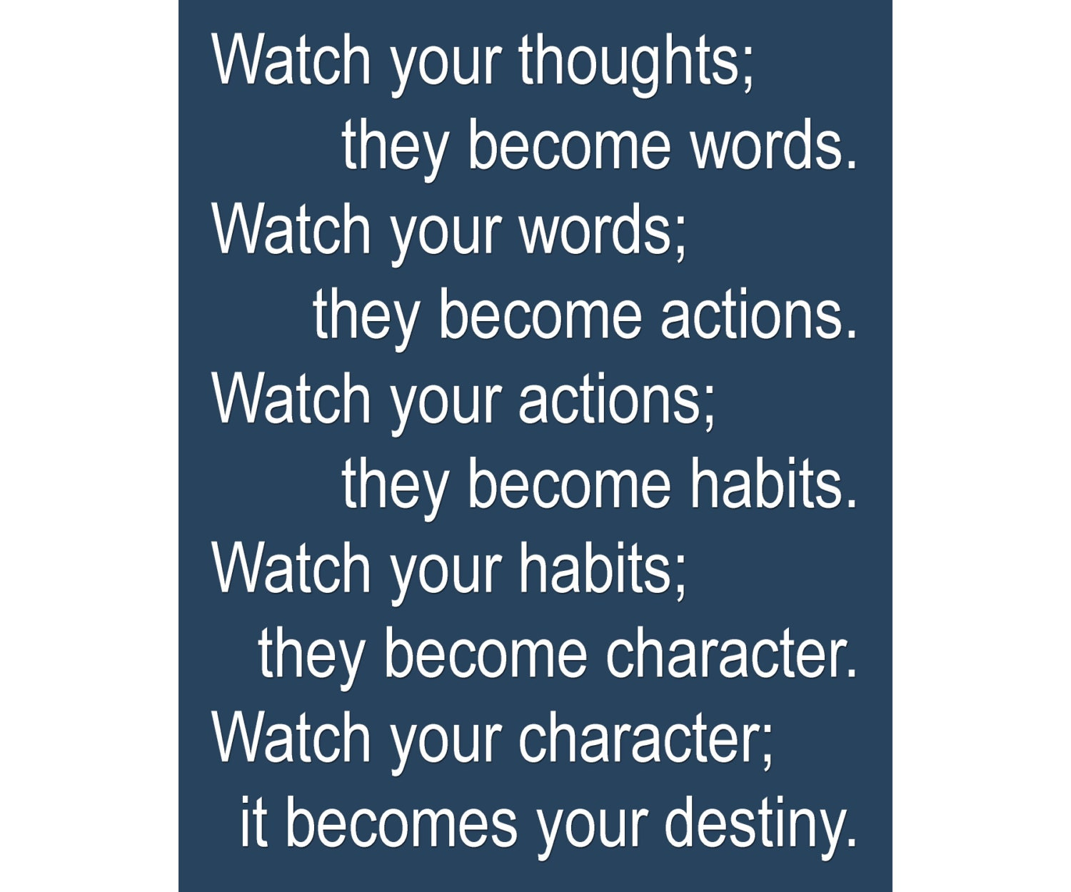 Watch Your Thoughts Lao Tzu Quote Available Sizes By