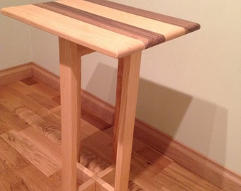 Small table from natural wood