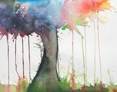 FREE SHIPPING -Tree of Life Watercolor